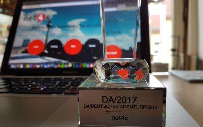 Erneut Gewinner des Deutschen Agenturpreis im Jahr 2017